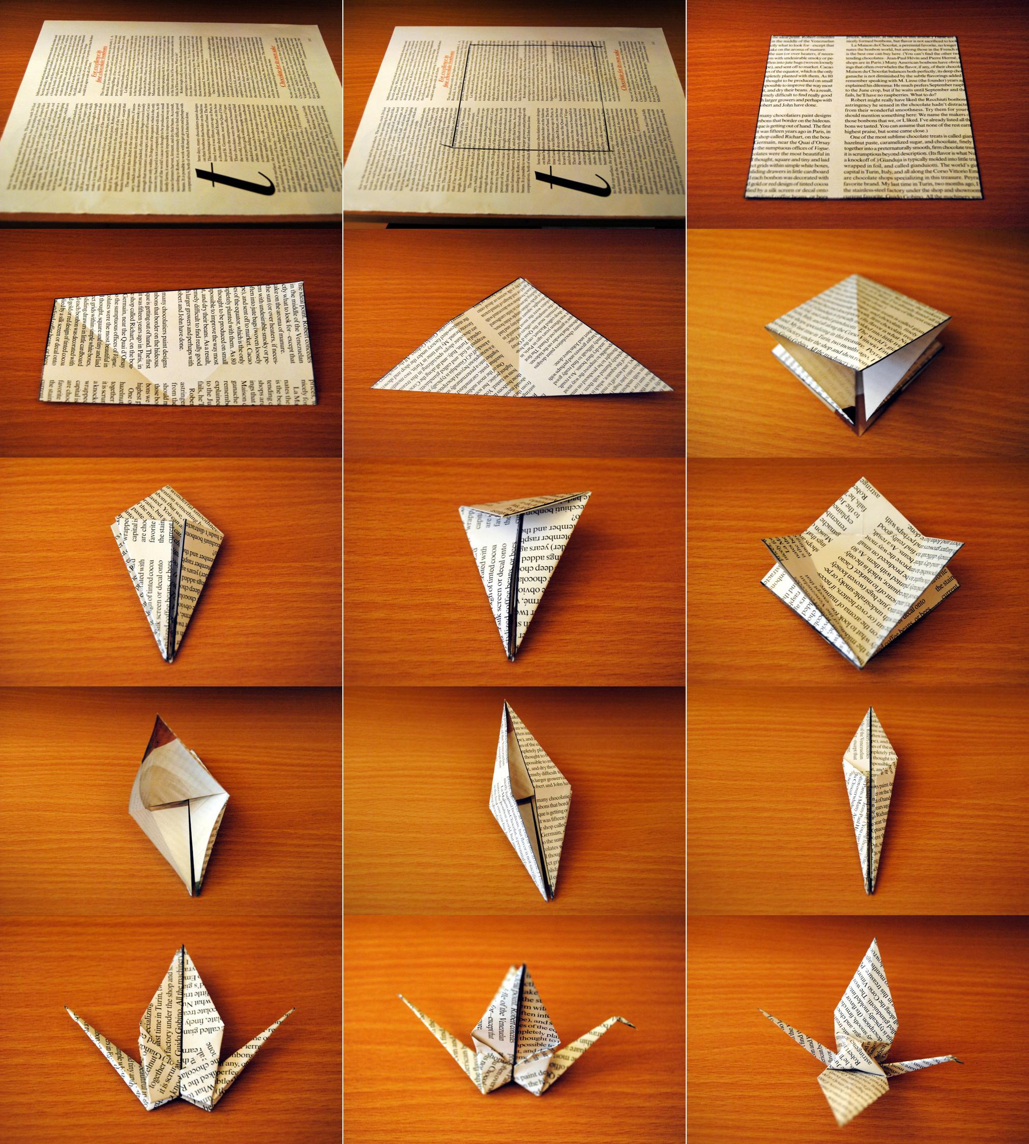 make a paper crane